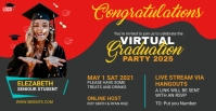 Graduation Party Facebook Group Cover template