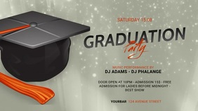 Graduation Party Facebook Video AD Template Digitalanzeige (16:9)