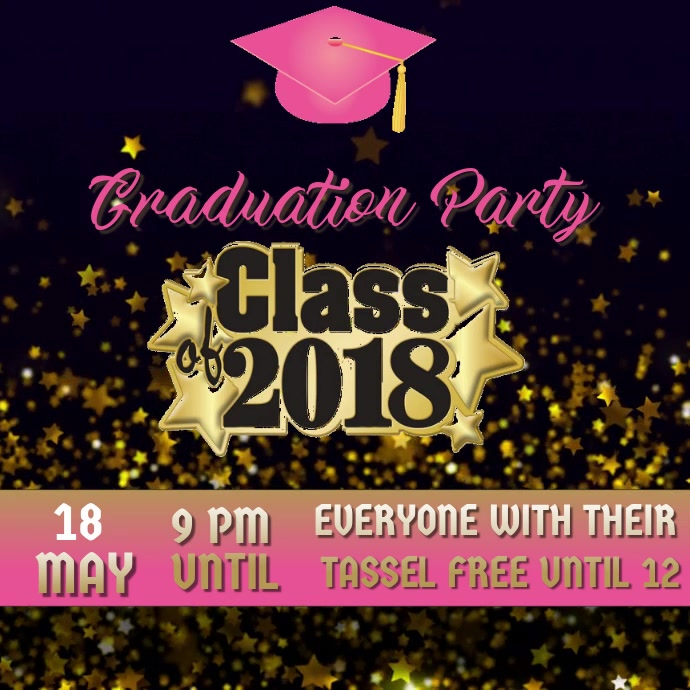 Graduation Party Flyer Template Postermywall