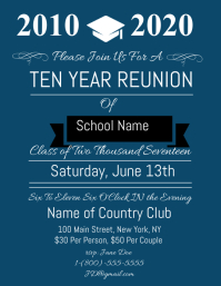 Elegant High School Reunion Flyer Regard To Class Reunion Invitation Template