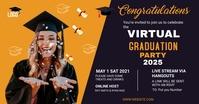 Graduation Party Post Card Template Isithombe Esabiwe ku-Facebook