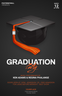 Graduation Party Flyer Template 小报