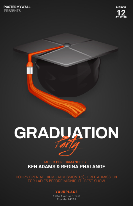 Graduation Party Flyer Template Tabloid