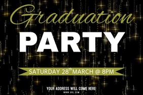 Graduation Party Flyer Template Плакат