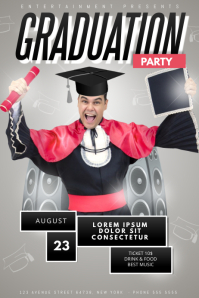 Graduation Party Flyer Template funny