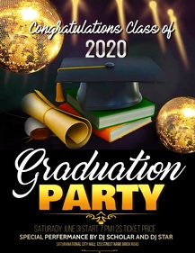 Graduation party flyers,Graduates