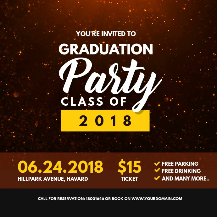 copy of graduation party invitation card template postermywall