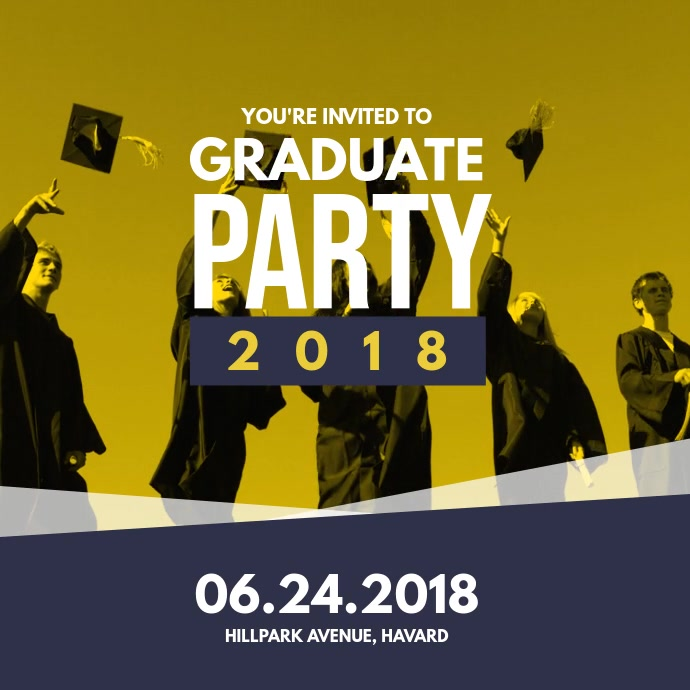 Graduation Party Invitation Card Template