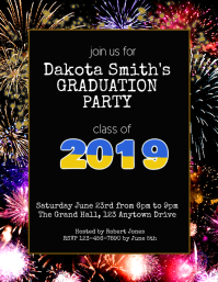 graduation party invitation flyer