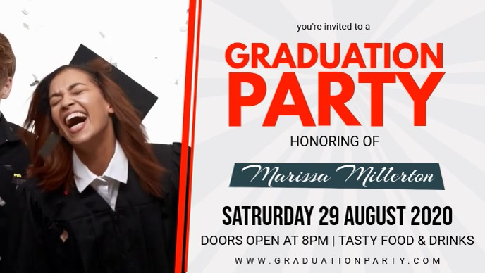 Graduation Party Invitation Video Banner template