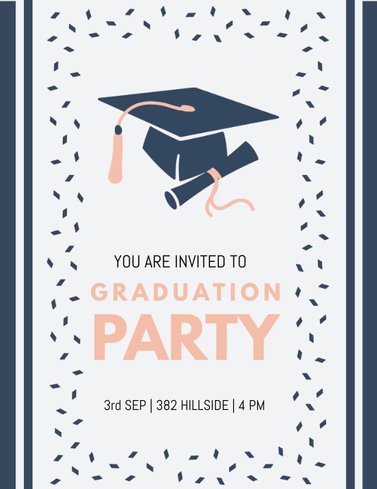 graduation party invite customize template