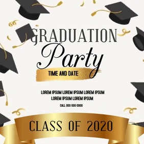 GRADUATION PARTY INVITE SOCIAL MEDIA Publicação no Instagram template