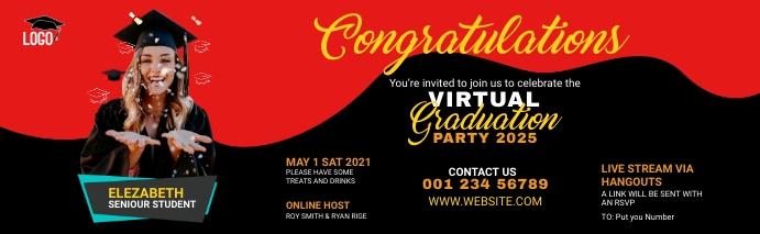 Graduation Party LinkedIn Career Cover Photo template