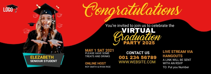 Graduation Party Tumblr Banner template