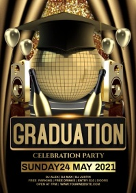 Graduation party video A4 template