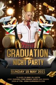 Graduation Party video Плакат template