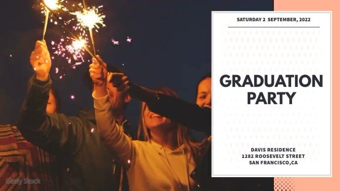 Graduation Party Video Template Tampilan Digital (16:9)