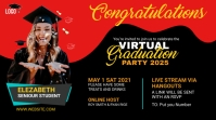 Graduation Party YouTube Channel Cover Coverfoto til YouTube-kanal template