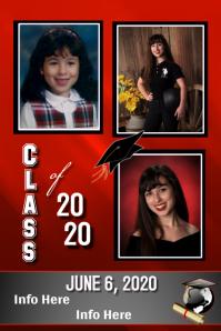 Graduation Photo Announcement Póster template