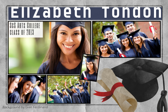 Graduation photo collage template postermywall for Senior photo collage templates