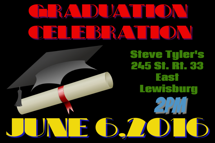 Graduation Postcard Template PosterMyWall - Graduation postcard template