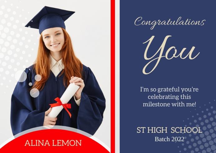 Graduation Postcard Template 明信片