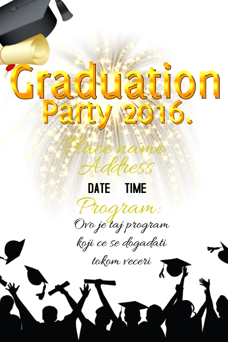 Graduation Template | PosterMyWall