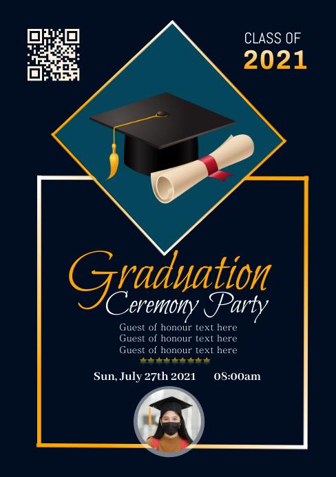 Graduation Poster Template 3 A5