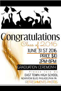Graduation Poster Templates PosterMyWall