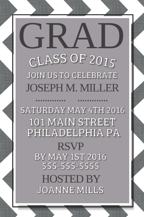 Graduation Poster template