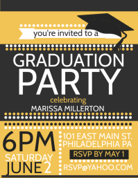 graduation party flyer