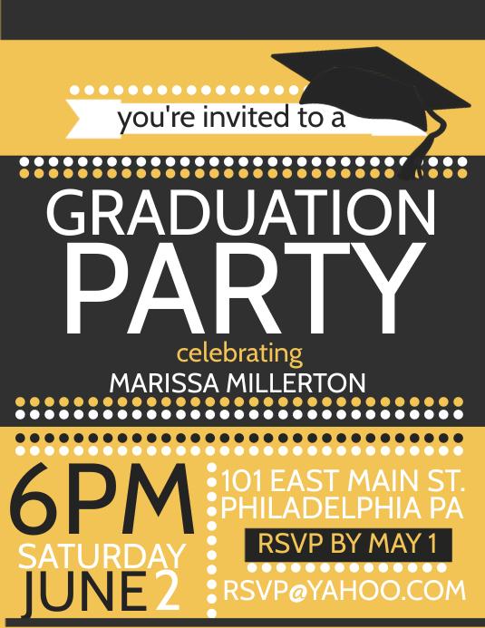 Graduation Pamflet (Letter AS) template