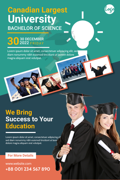 Graduation Program Template Plakat