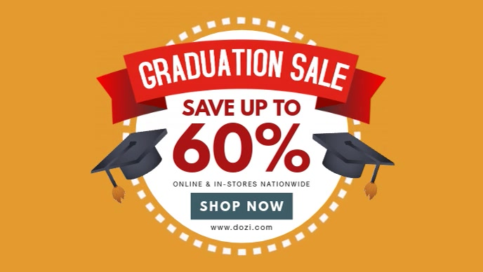 Graduation Sale Ad Banner Template