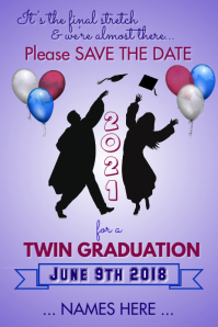 Graduation Save the Date Flyer Template
