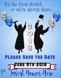 Graduation Save the Date Flyer