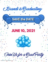 Graduation Save The Date Template