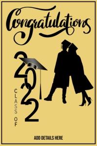 Graduation Template Cartel de 4 × 6 pulg.