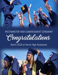 Graduation Template Рекламная листовка (US Letter)