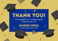 Graduation Thank You Card Postkort template