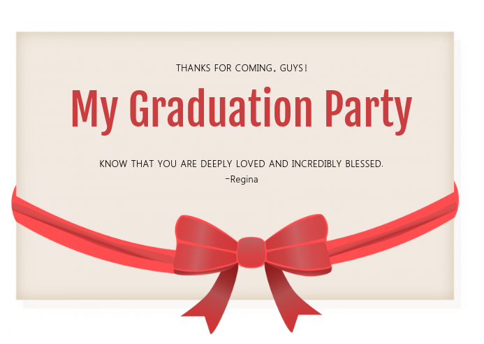 Graduation Thank You Greeting Card Template Postermywall