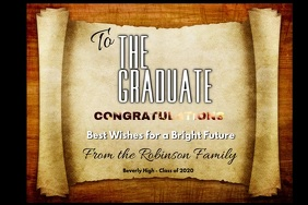 Graduation The Graduate Poster template