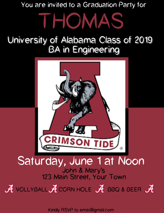 Graduation University of Alabama