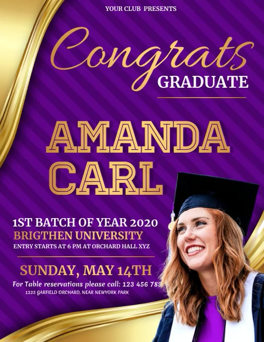 Graduation Video, Graduates Video Flyer (US Letter) template