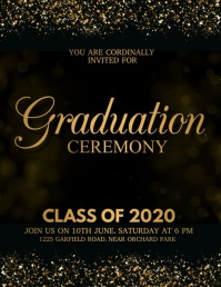 Graduation Video, Graduation, class of 2020 Løbeseddel (US Letter) template