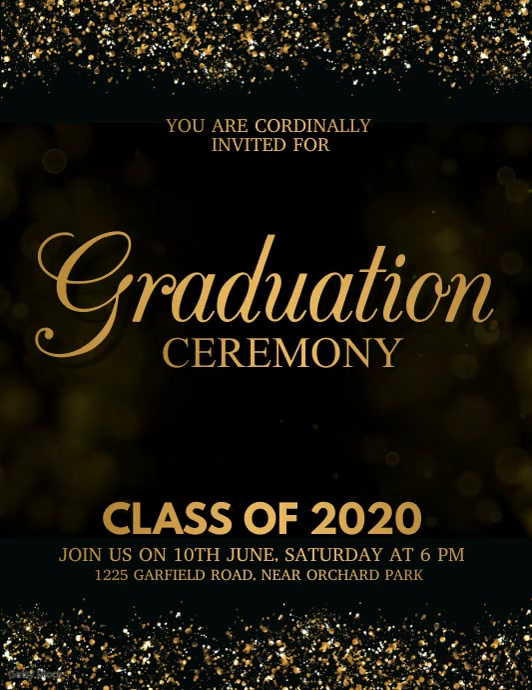 Graduation Video, Graduation, class of 2020 Рекламная листовка (US Letter) template