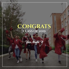 Graduation Video Template Album Omslag