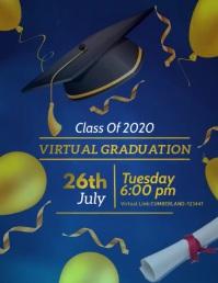 Virtual Graduation video template Flyer (US Letter)