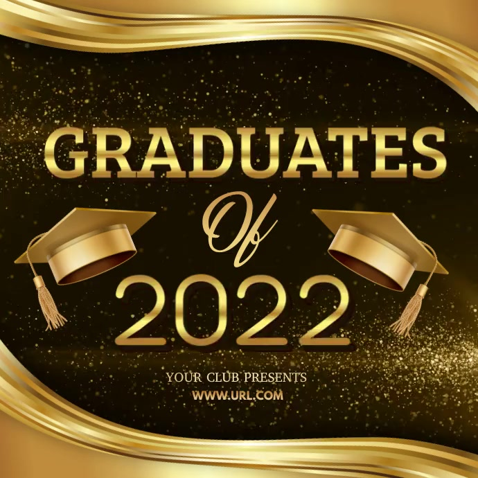Graduation video templates Kvadrat (1:1)