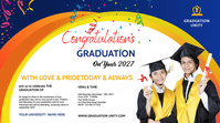 Graduation wish Twitch Banner template